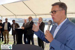 Wirtschaftsförderer Thomas Westphal begrüßte die Gäste der offiziellen Eröffnung des DIWN.