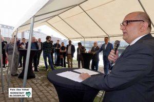 Volkan Baran (SPD) bei der Presskundgebung zur Eröffnung des DIWN