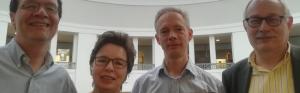 (v.li.) Prof. Walter Grünzweig, Dr. Gisela Framke, Prof. Wolfgang Sonne und Dr. Karl Lauschke