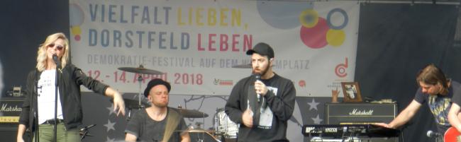 Gute Resonanz auf das dreitägige Demokratiefest mit Musik, Aktion, Diskussion und Spiel auf dem Wilhelmplatz Dorstfeld