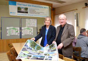 Ludwig Jörder und Anne Rabenschlag sehen eine große Bereicherung für den Stadtteil im neuen Diakoniezentrum. Foto: Diakonie Dortmund