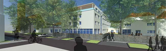 In der Nordstadt wird ein neues Diakoniezentrum mit Kita, Seniorentagespflege und Reha-Einrichtung gebaut