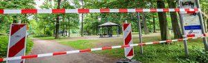 Aktuell sind Teile des Fredenbaumparks - darunter auch der Grillplatz - gesperrt.