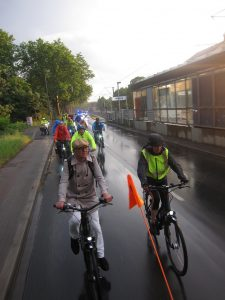 Ghost Bike - Ride of Silence unterwegs (Foto Dortmunder Radverkehrsinitiativen)