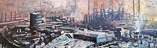 """Das Hoeschmuseum Dortmund erinnert in der Nordstadt mit 37 Bildern an die """"Industriegiganten an der Ruhr"""""""