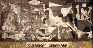 Pablo Picassos Gemälde erinnert an die Zerstörung der spanischen Stadt Guernica durch die deutsche Legion Condor. Foto: wikipedia
