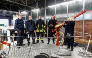 kunstgruppe GOTTLIEB hier bei der Dortmunder Feuerwehr. Foto: Oliver Scharper