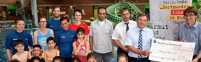 10.000 Euro für 'Dortmunder Kinder in Not': Schwimmkurs für Flüchtlinge im Nordbad zählt zu den geförderten Projekten