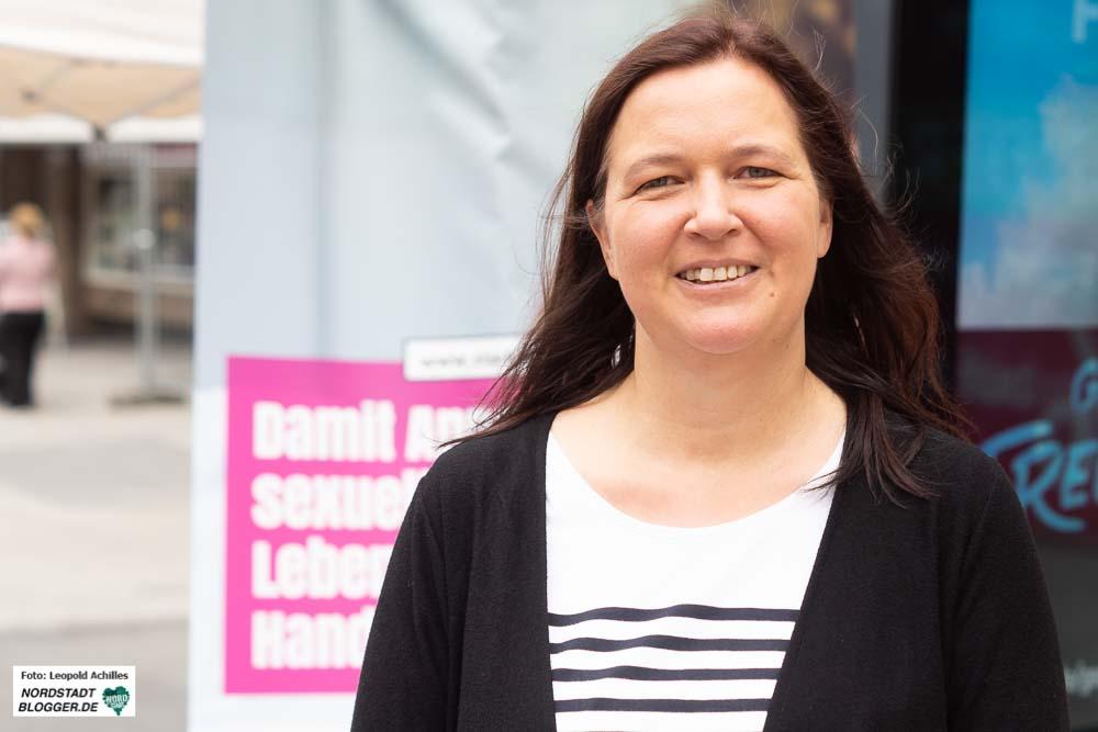Maresa Feldmann ist Gleichstellungsbeauftragte der Stadt Dortmund und unterstützte die Aktion.