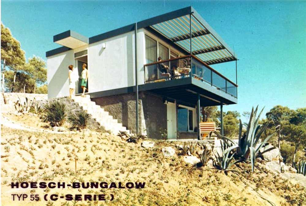 Dieses Musterhaus des Hoeschbungalows wurde auf Mallorca errichtet. Foto: Konzernarchiv