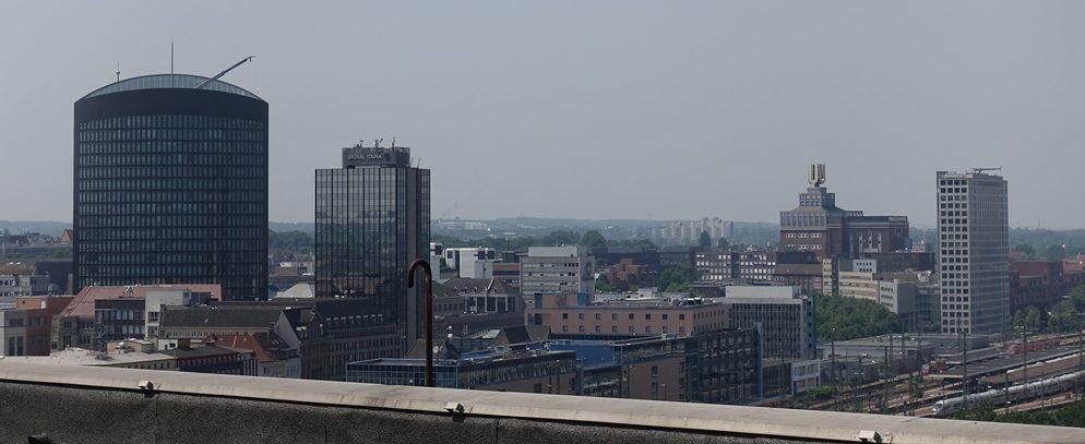 Der Ausblick aus dem Dogewo21-Hochhaus in der Heiligegartenstraße. Foto: Ole Corneliussen