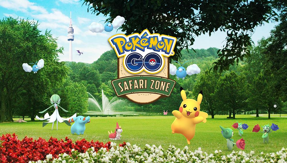 """Werbung für die """"Pokémon GO Safari Zone"""" in Dortmund."""