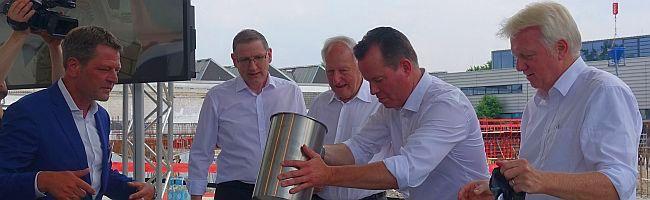 """Grundsteinlegung """"Future Office"""" auf neuem Werksgelände: Pumpenhersteller Wilo macht weiterhin Nägel mit Köpfen"""