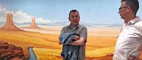 In der texanischen Wüste: Andreas Seim und Dr. Jens Stöcker.
