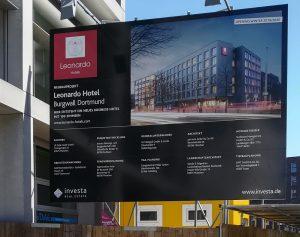Dortmund Tourismus, aktueller Neubau des Leonardo Hotel am Burgwall