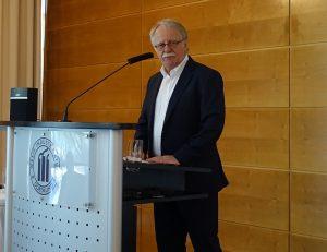 Dortmund Tourismustreff 2018 Kirchentagspräsident Hans Leyendecker. Foto: Gerd Wüsthoff