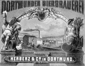 Erste Ansicht der Dortmunder-Aktien-Brauerei um 1870. Fotos: Brauereimuseum Dortmund