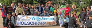 Das Organisationsteam vom Hoeschparkfest freut sich am 1. Juli über viele BesucherInnen. Foto: Joachim vom Brocke