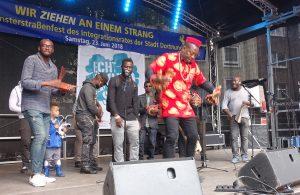 Münsterstraßen Fest 2018 Die Musikgruppe aus Biafra in Nigeria