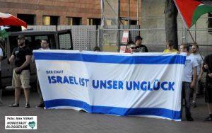 Die Dortmunder Neonazis haben vielfach Aktionen gegen Israel und Solidaritätsveranstaltungen für Holocaust-LeugnerInnen gemacht.