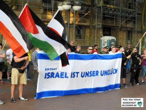 Immer wieder richten die heimischen Neonazis ihre Aktivitäten gegen den Staat Israel.