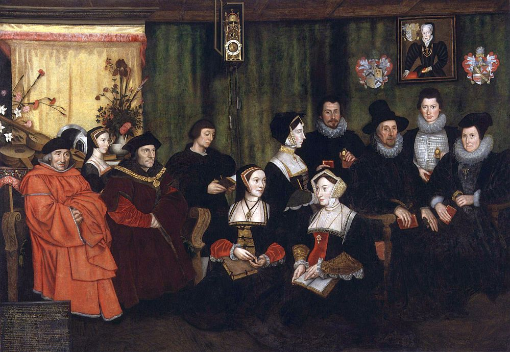 Thomas Morus im Kreis seiner Familie (nach Hans Holbein dem Jüngeren). Foto: Wikipedia