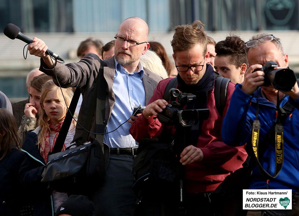 Wolfram Goetz im Einsatz am 4. April, 2016 am Tag der Solidarität zum Gedenken der NSU-Opfer an der Steinwache.