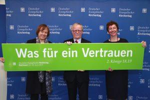 """Der 37. Deutsche Evangelische Kirchentag steht unter dem Motto """"Was für ein Vertrauen"""". Foto: Silvia Kriens"""