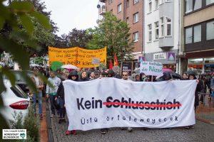 """Auch in Dortmund rief ein breites Bündnis zur Protestaktion """"Kein Schlussstrich"""" auf. Foto: Leopold Achilles"""