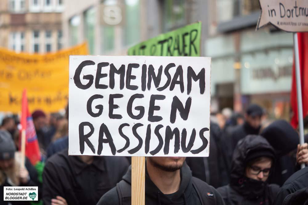 Die Botschaft war klar - der Kampf gegen Rassismus und Rechtsextremismus muss weitergehen. Foto: Leopold Achilles