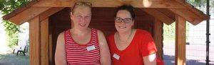 Die beiden künftigen Familienberaterinnen Nicole Gebhardt (l.) und Alien Datz.