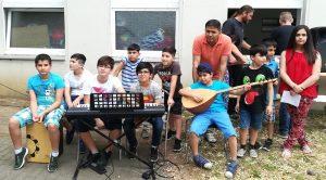Musizierende Kinder des KiVi im VMDO
