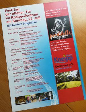 Die Veranstaltungen am Tag der offenen Tür im Kneipp-Verein am 22. Juli