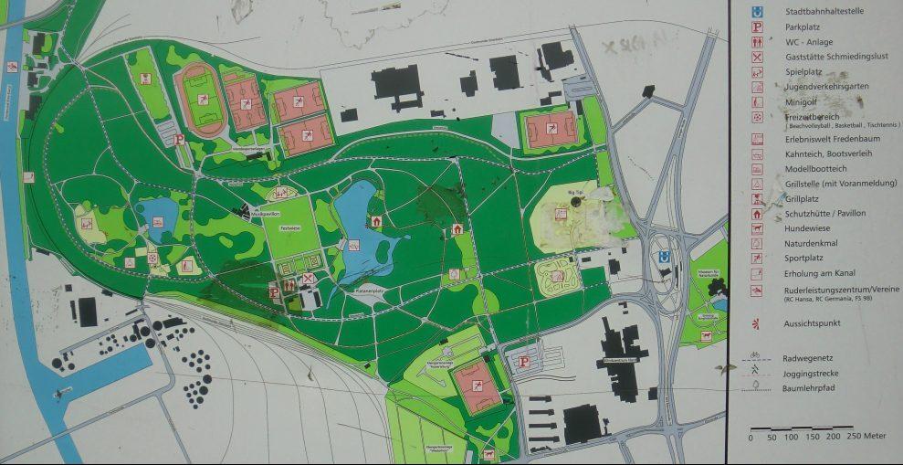 Die Mendesportanlagen befinden sich im nordwestlichen Bereich des Fredenbaums und bestehen heute aus vier Spielplätzen. Foto: Klaus Winter