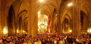 Die gefüllte Stadtkirche St. Reinoldi bei der DEW21-Museumsnacht. Foto: Rupert Warren