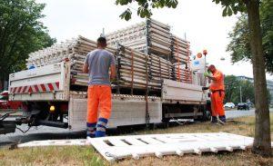 Die vorbereitenden Arbeiten am Ostwall haben begonnen. Foto: Karsten Wickern