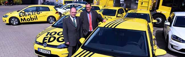 Acht E-Golfs angeschafft: Umstellung auf E-Mobilität und emissionsärmere Antriebe bei der EDG Dortmund geht weiter