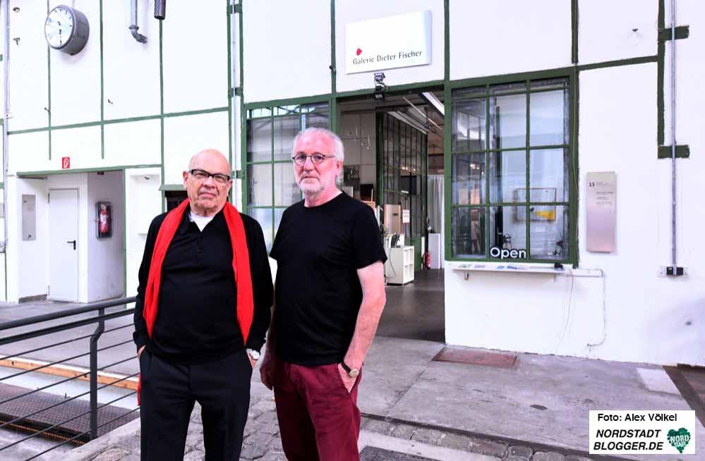 Dieter Fischer und Hartmut Gloger haben ihre letzte Ausstellung organisiert. Danach wird die Galerie ausgeräumt.