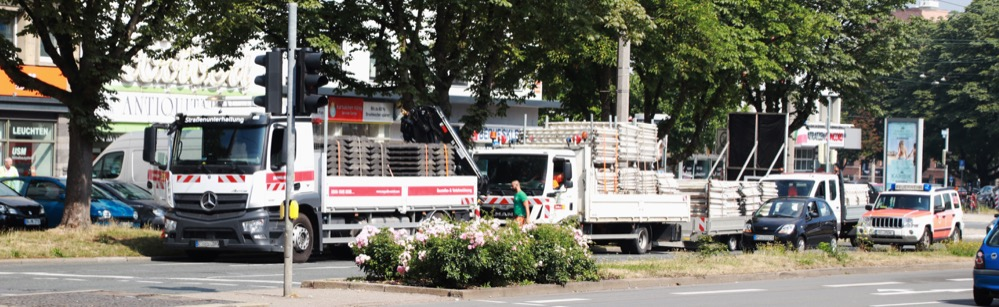 Verkehrsbehinderungen: Bauarbeiten am Ostwall-Innenring
