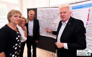Daniela Schneckenburger, Martina Raddatz-Nowack, Thomas Ellerkamp und Ullrich Sierau stellten die Planungen vor.