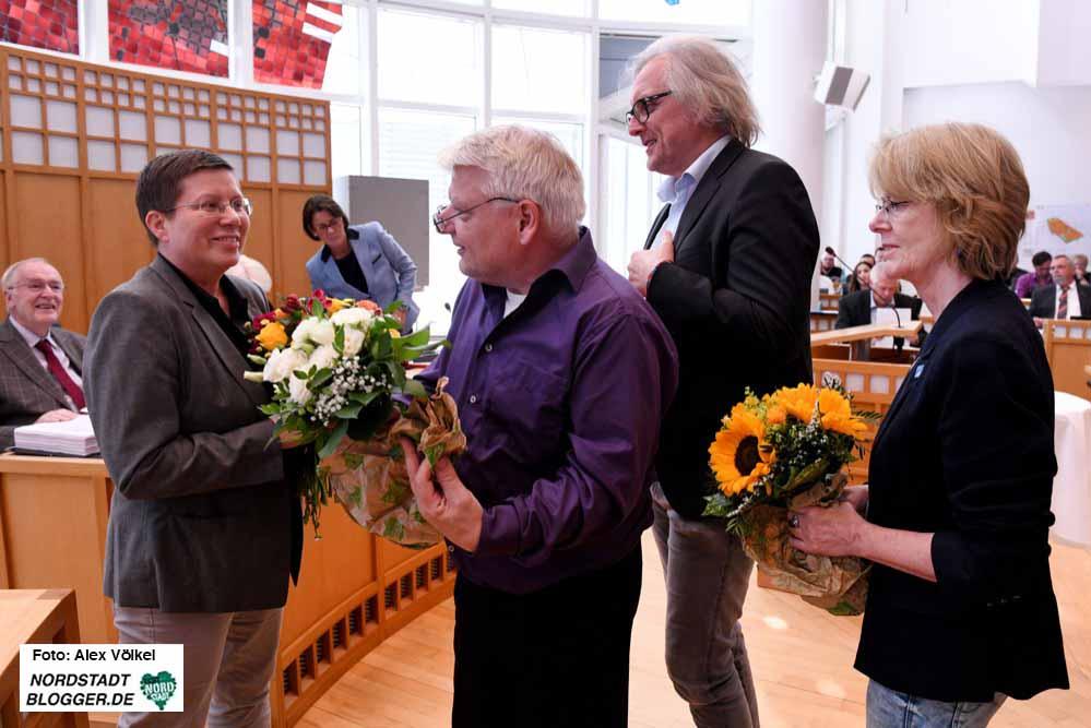 Glückwünsche für Birgit Zoerner - sie fuhr in geheimer Wahl ein vervorragendes Ergebnis ein.
