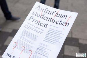 Protest an der Fachhochschule Dortmund
