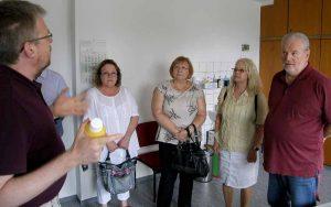 Die SozialpolitikerInnen der SPD-Ratsfraktion besuchten die neuen Räume des mobilen medizinischen Dienstes in der Nordstadt. Foto: SPD