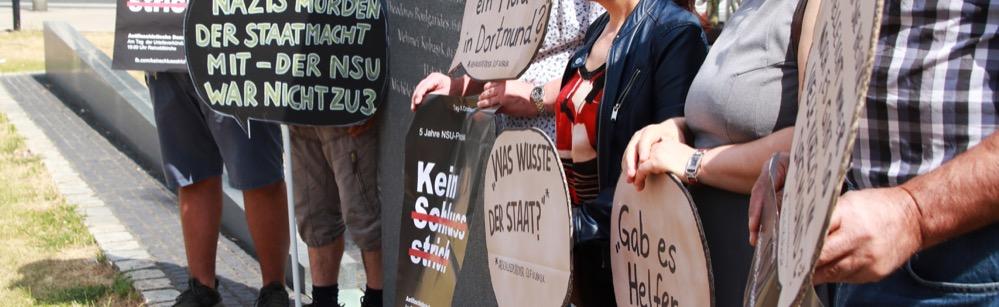 """""""Kein Schlussstrich"""": Bündnis in Dortmund fordert eine weitere Aufarbeitung auch nach Ende des NSU-Prozesses"""