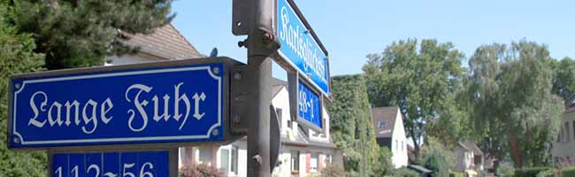 Historische Straßenschilder für die Zechensiedlung Oberdorstfeld – ein Nordwärts-Projekt macht es möglich