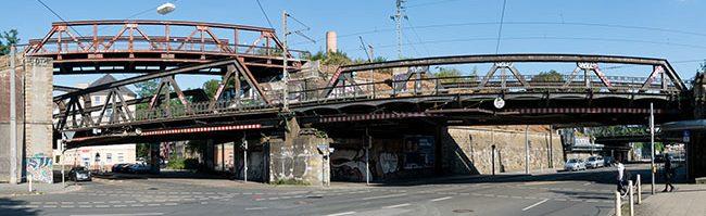 Eisenbahnbrücken in Dortmund: Kunstwerke aus Stahl im Alltagseinsatz – mehr als 100 Jahre Industriegeschichte