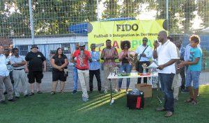 FIDO UFC Köln Dankesrede SiegerehrungTurnierleiter Amadou Diallo