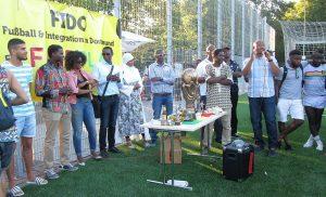 FIDO UFC Köln Rede Siegerehrung Aissatou Balde vom Guinée Solidaire Organisation e.V