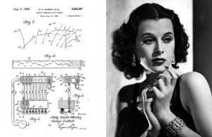 Geniale Göttin Hedy Lamarr und eine ihrer Skizzen