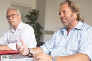 Polizeipräsident Gregor Lange und der Leiter des Staatsschutzes, Karsten Plenker, im Interview mit Nordstadtblogger.de. Foto: Leopold Achilles